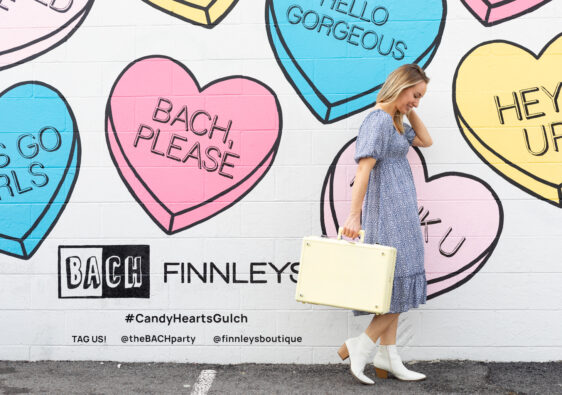 Candy Heart Wall Mural Nashville